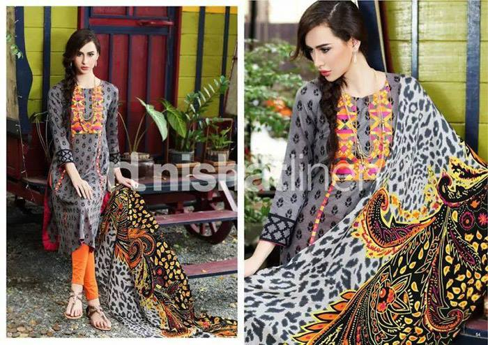 Nishat Linen Latest Winter Dresses Collection for Women 2014-2015 (18)