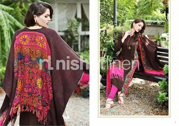 Nishat Linen Latest Winter Dresses Collection for Women 2014-2015 (2)