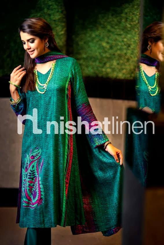 Nishat Linen Latest Winter Dresses Collection for Women 2014-2015 (25)