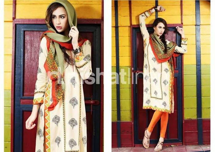 Nishat Linen Latest Winter Dresses Collection for Women 2014-2015 (3)