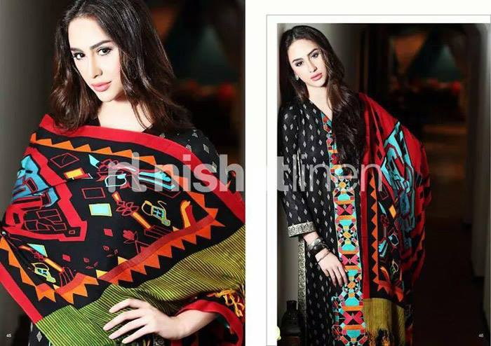 Nishat Linen Latest Winter Dresses Collection for Women 2014-2015 (7)