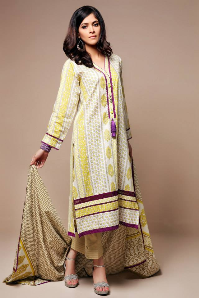 Satrangi By Bonanza Glamorous Ready To Wear Dresses Cambric Lawn Collection 2014-2015 for Women (1)