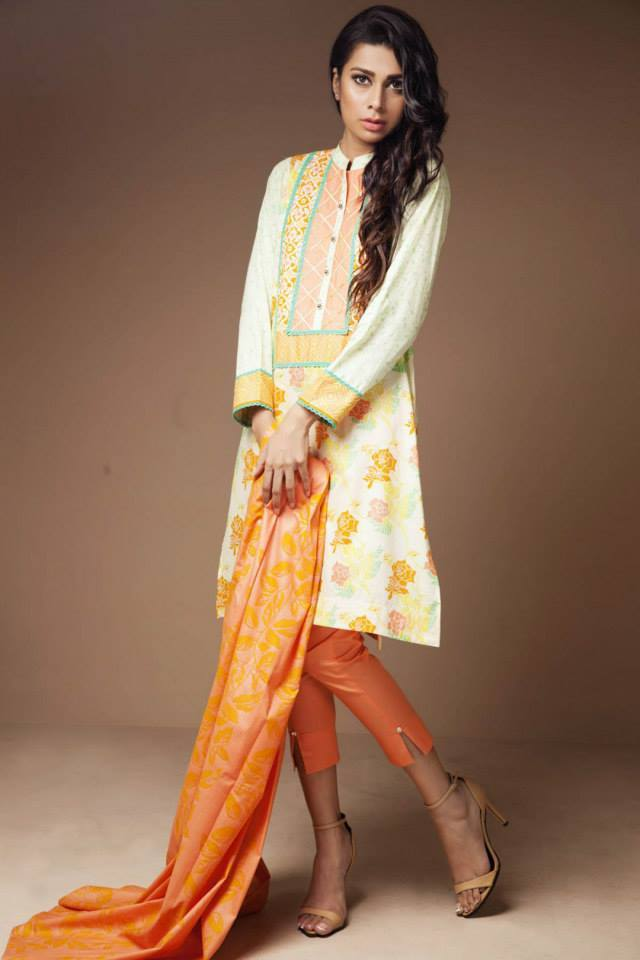 Satrangi By Bonanza Glamorous Ready To Wear Dresses Cambric Lawn Collection 2014-2015 for Women (10)
