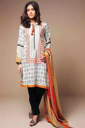 Satrangi By Bonanza Glamorous Ready To Wear Dresses Cambric Lawn Collection 2014-2015 for Women (3)