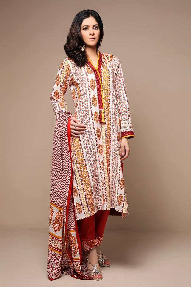 Satrangi By Bonanza Glamorous Ready To Wear Dresses Cambric Lawn Collection 2014-2015 for Women (4)