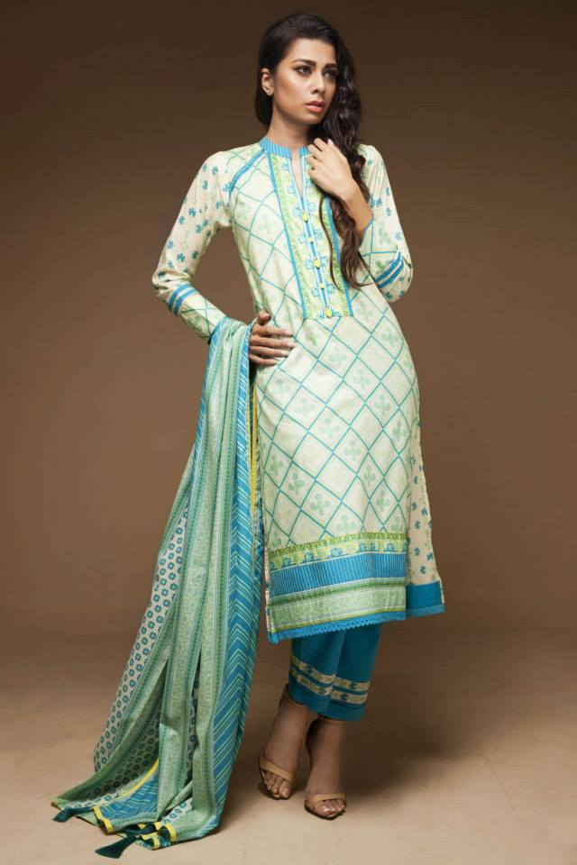 Satrangi By Bonanza Glamorous Ready To Wear Dresses Cambric Lawn Collection 2014-2015 for Women (5)
