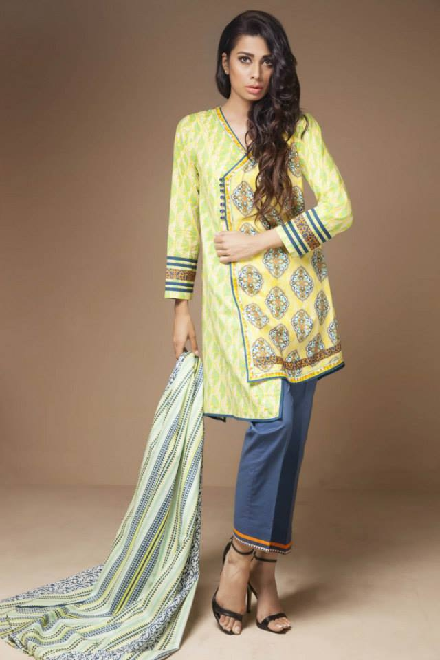 Satrangi By Bonanza Glamorous Ready To Wear Dresses Cambric Lawn Collection 2014-2015 for Women (6)