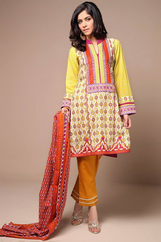 Satrangi By Bonanza Glamorous Ready To Wear Dresses Cambric Lawn Collection 2014-2015 for Women (7)