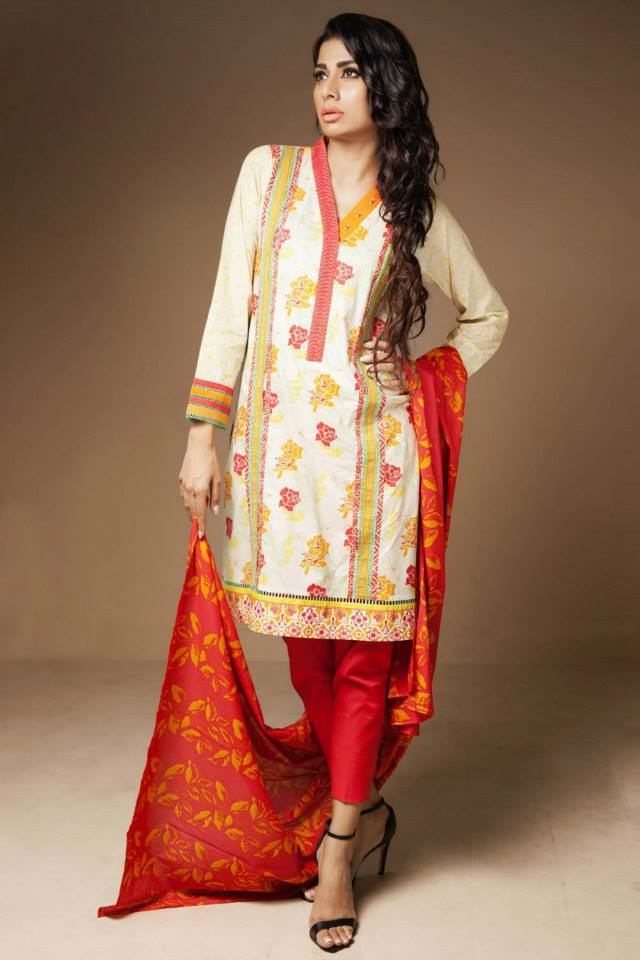 Satrangi By Bonanza Glamorous Ready To Wear Dresses Cambric Lawn Collection 2014-2015 for Women (9)