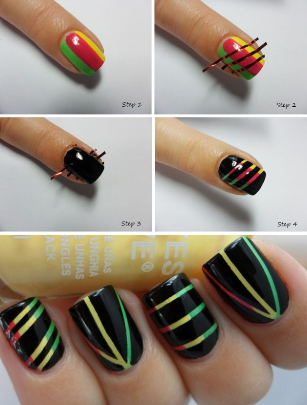 Step by Step Nail Art Picture Tutorial Best and Easy Designs To Try (11)