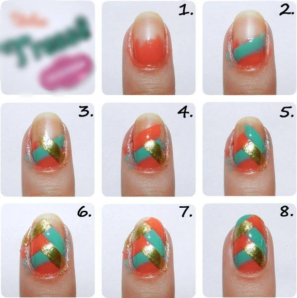 Step by Step Nail Art Picture Tutorial Best and Easy Designs To Try