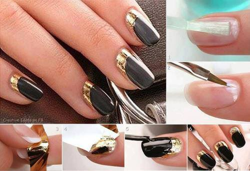 Step By Nail Art Picture Tutorial Best And Easy Designs To Try 8 Chevron Tape Manicure Ideas