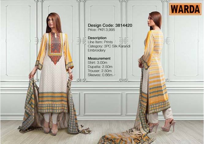 WARDA Designer Ready To Wear Winter Dresses Collection 2014-2015 (1)