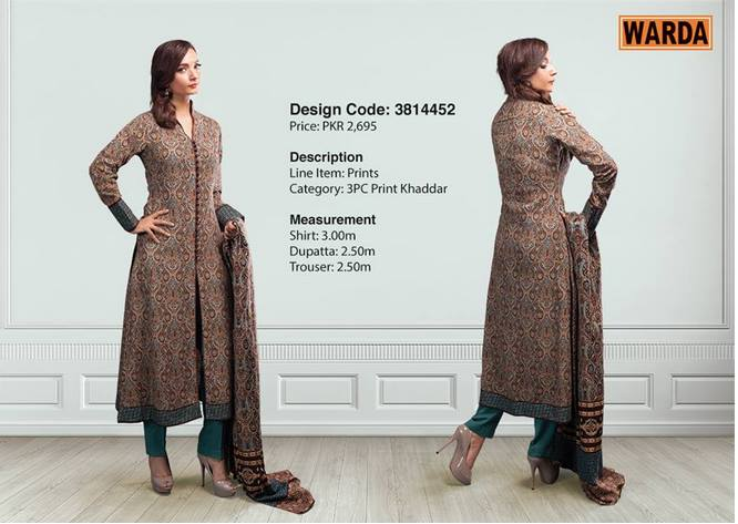 WARDA Designer Ready To Wear Winter Dresses Collection 2014-2015 (10)