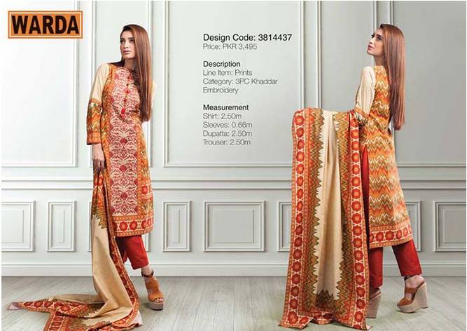 WARDA Designer Ready To Wear Winter Dresses Collection 2014-2015 (16)