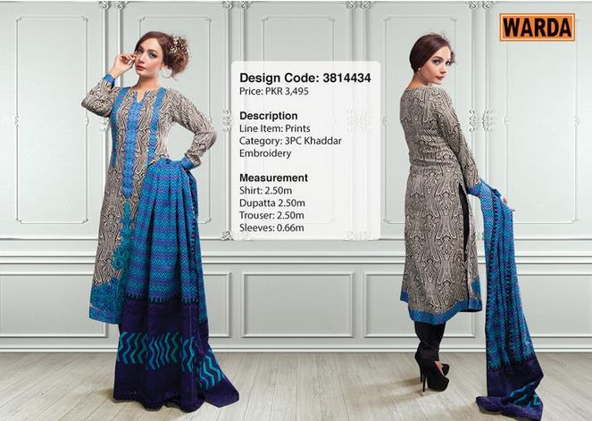 WARDA Designer Ready To Wear Winter Dresses Collection 2014-2015 (2)