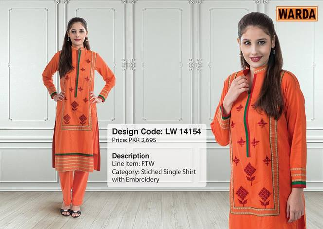 WARDA Designer Ready To Wear Winter Dresses Collection 2014-2015 (4)