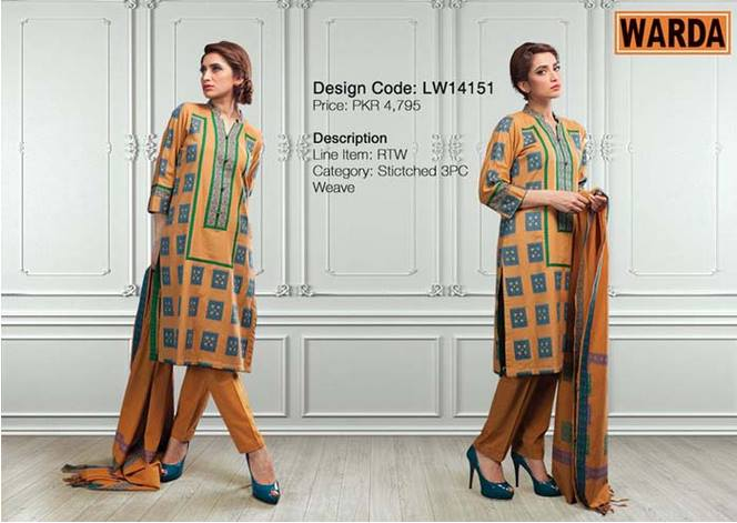 WARDA Designer Ready To Wear Winter Dresses Collection 2014-2015 (6)