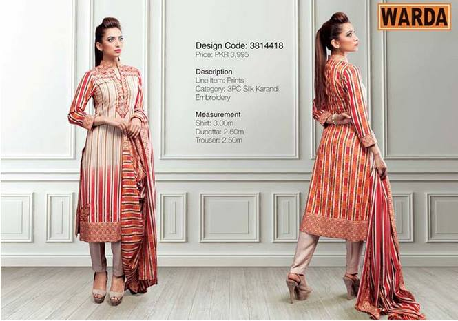 WARDA Designer Ready To Wear Winter Dresses Collection 2014-2015 (7)