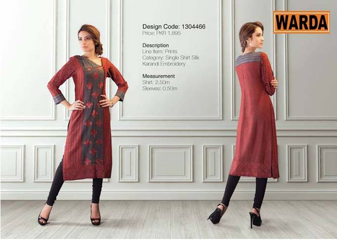 WARDA Designer Ready To Wear Winter Dresses Collection 2014-2015 (8)