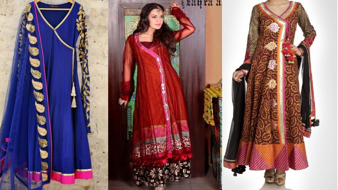 Angrakha Party Wear Frocks & Salwar Kameez For Girls