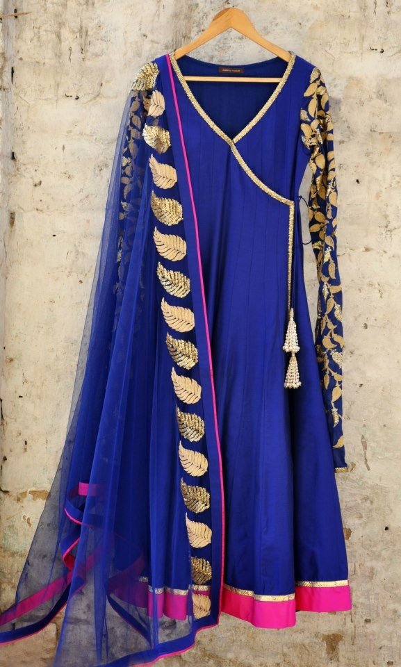 Angrakha Party Wear Frocks & Salwar Kameez For Girls (14)
