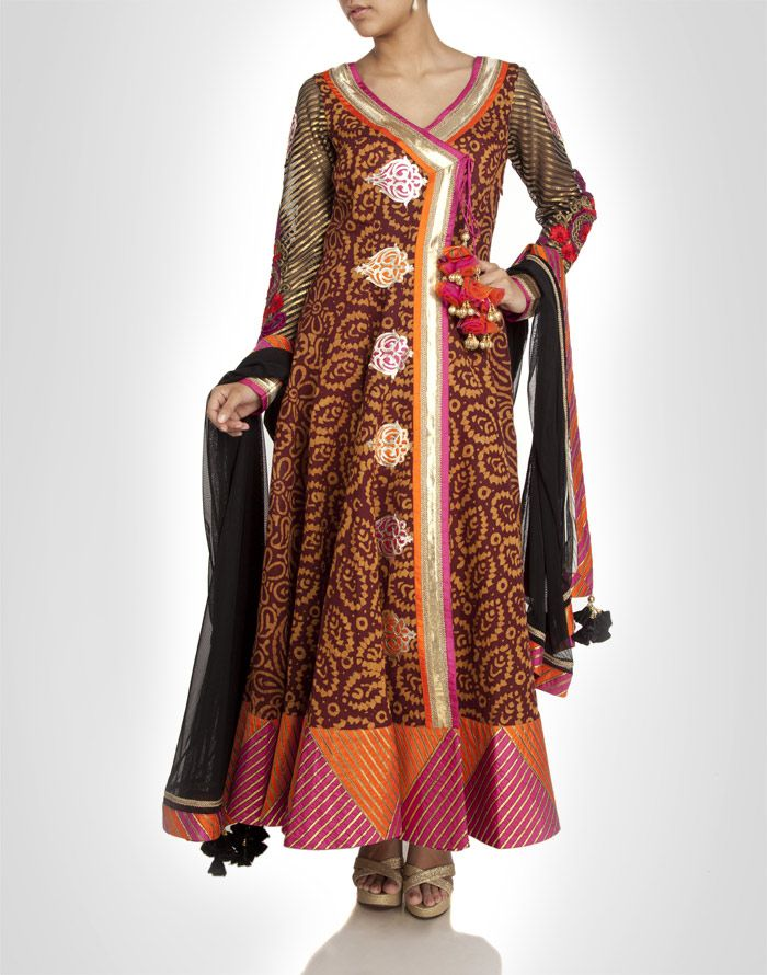 Angrakha Party Wear Frocks & Salwar Kameez For Girls (15)