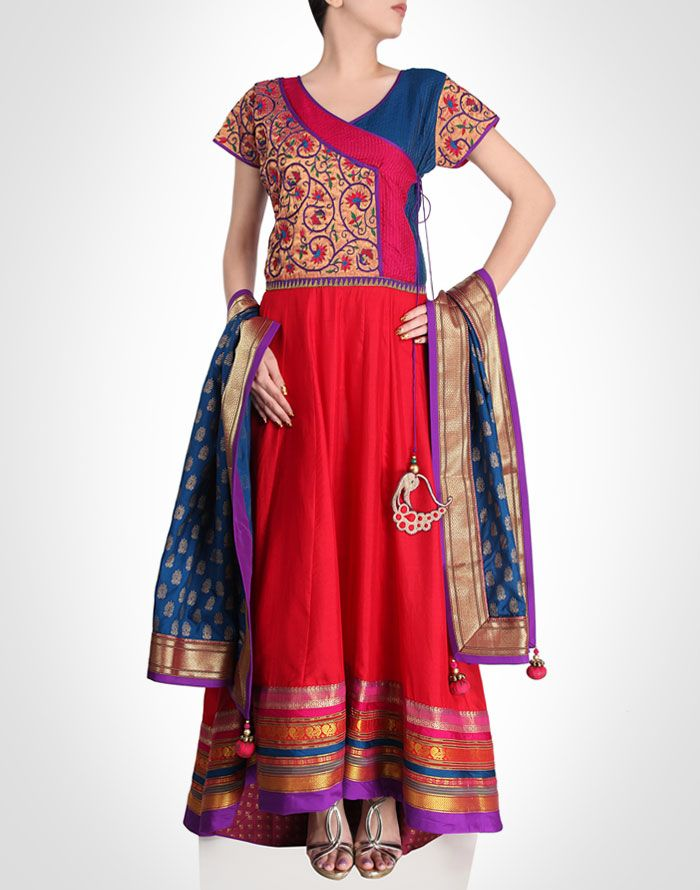 Angrakha Party Wear Frocks & Salwar Kameez For Girls (18)