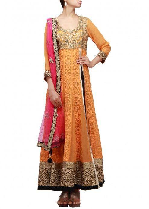 Angrakha Party Wear Frocks & Salwar Kameez For Girls (21)