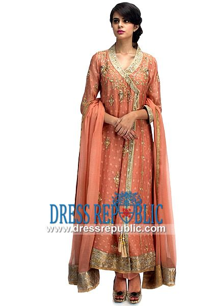 Bridal wear Fancy Angrkha Style Dresses & Gowns for Weddings (1)