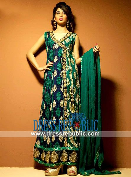 Bridal wear Fancy Angrkha Style Dresses & Gowns for Weddings (4)