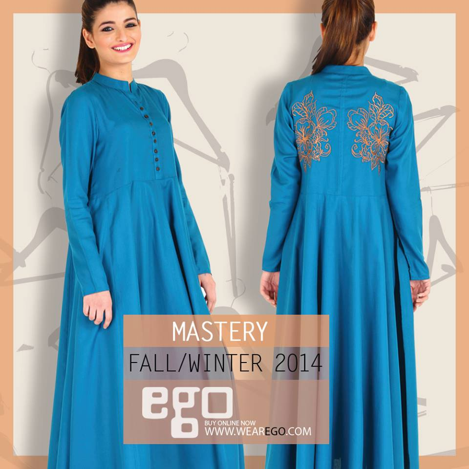 Designer Catalog: Ego Fall Winter Collection Stylish Dresses For Women 2014