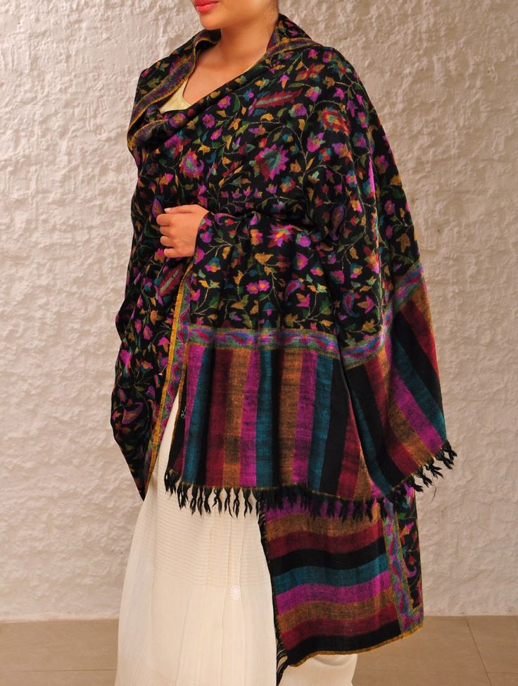 Beautiful Kashmiri Winter Shawls Designs Collection 2015