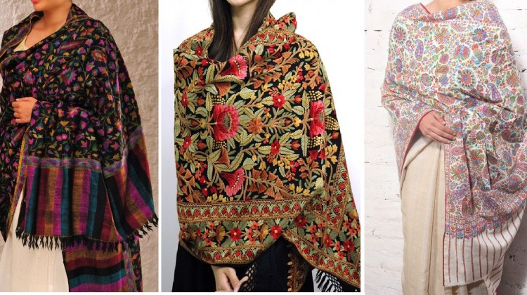 Kashmiri Shawls Collection Latest Winter Designs & Styles for Women 2015-2016