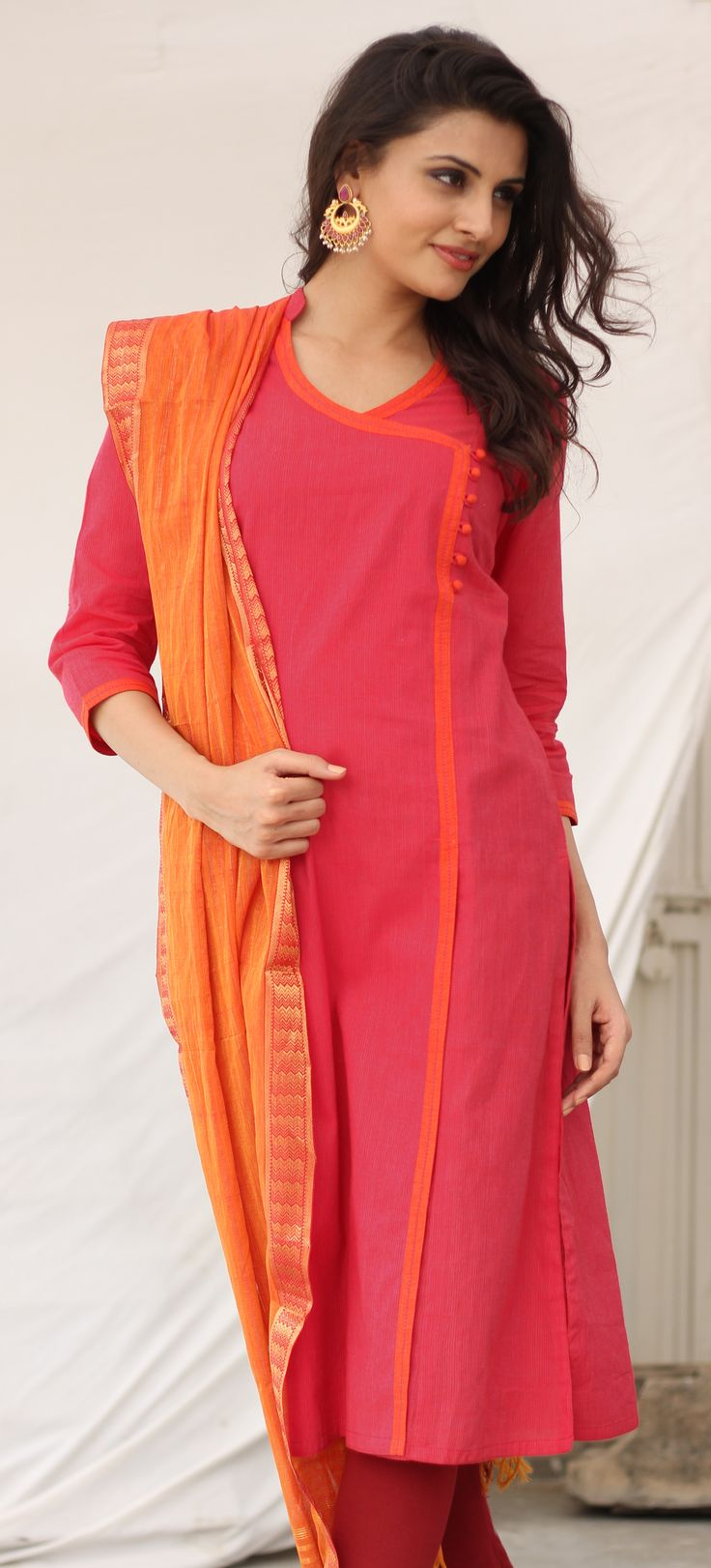 Latest Angrkha Style Shirt Dress Designs & Casual Kurtas for Women (4)