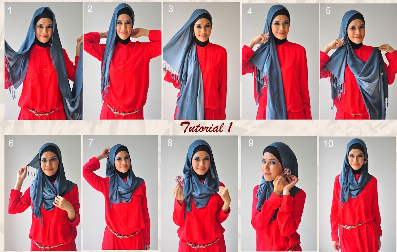 Latest Hijab Style DesignTrends & Tutorial For Girls 2015-2016 with Pictures (1)