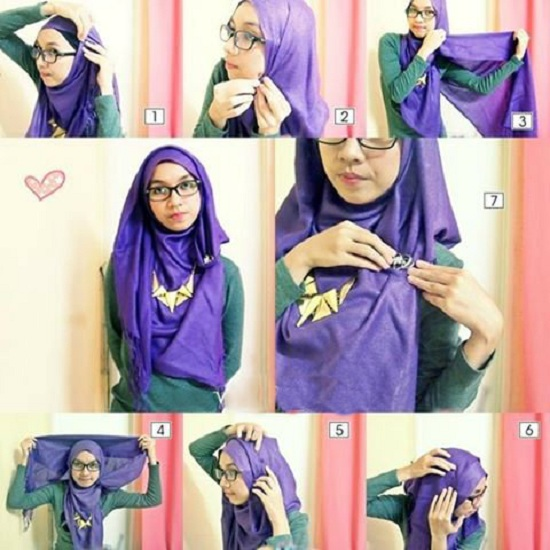 Latest Hijab Style DesignTrends & Tutorial For Girls 2015-2016 with Pictures (13)