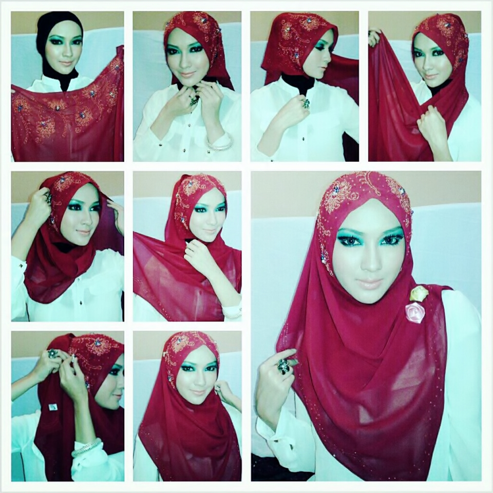 Tutorial Hijab Fashion Beautiful Pink Loose Hijab Tutorial Hijab