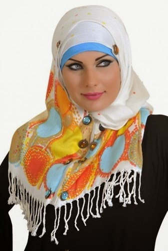 Latest Hijab Style DesignTrends & Tutorial For Girls 2015-2016 with Pictures (19)