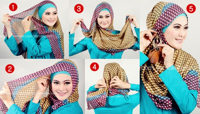 Latest Hijab Style DesignTrends & Tutorial For Girls 2015-2016 with Pictures (25)