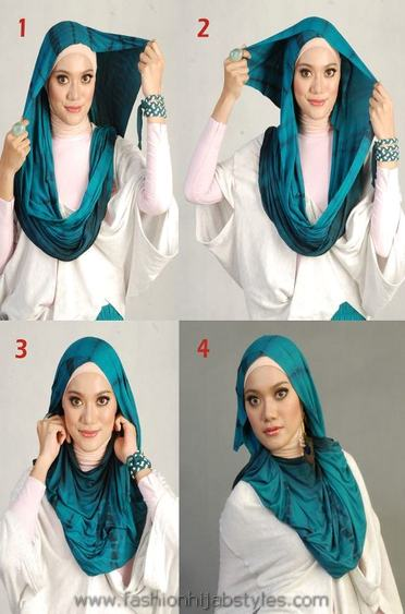 Latest Hijab Style DesignTrends & Tutorial For Girls 2015-2016 with Pictures (26)
