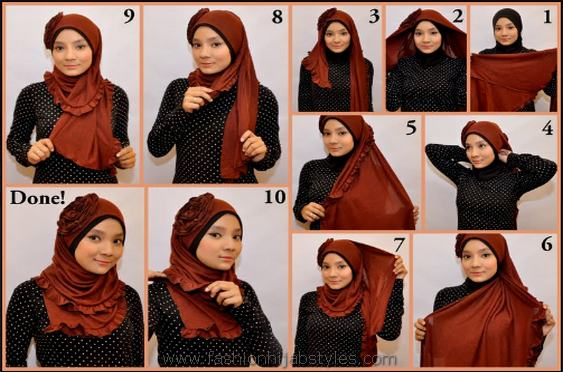 Latest Hijab Style DesignTrends & Tutorial For Girls 2015-2016 with Pictures (28)
