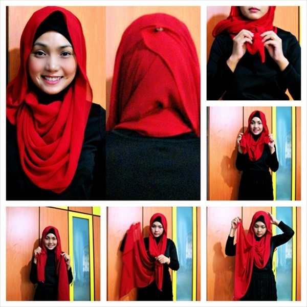 Latest Hijab Style DesignTrends & Tutorial For Girls 2015-2016 with Pictures (3)