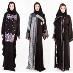Latest Designer Abaya Gowns with Hijab Designs 2016-2017
