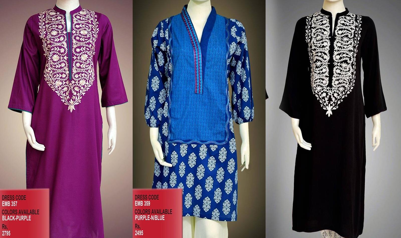Latest Styles & Designs of Women Kurtas 2016-17 by Change