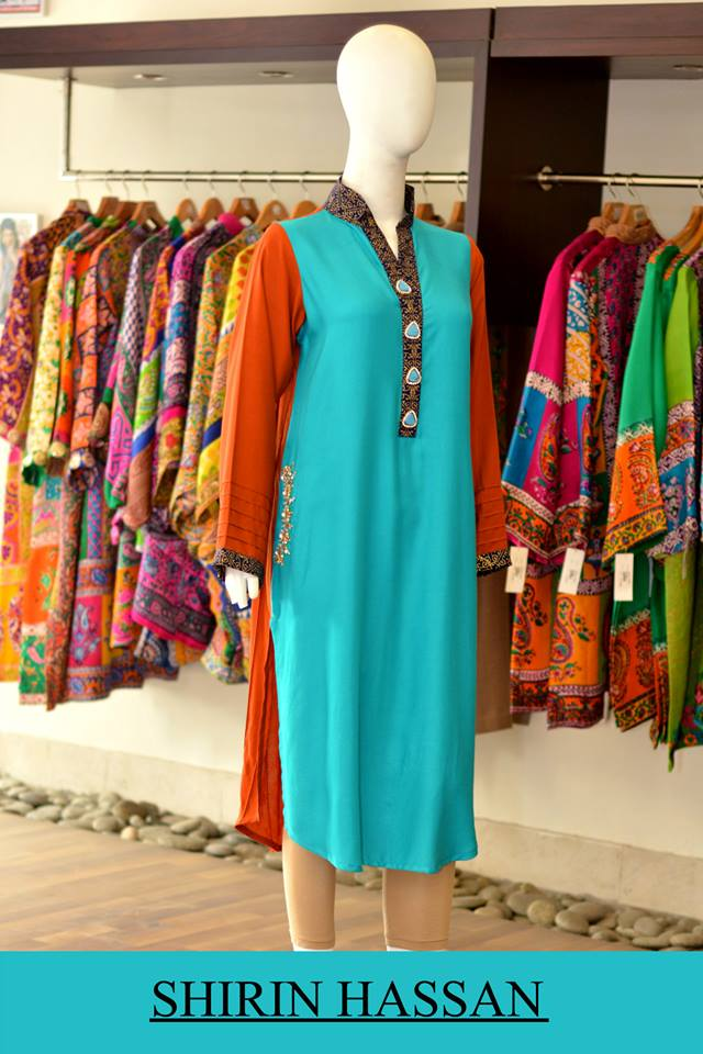 New Digital Kurtis & Suits By Shirin Hassan Winter Collection 2015 (2)