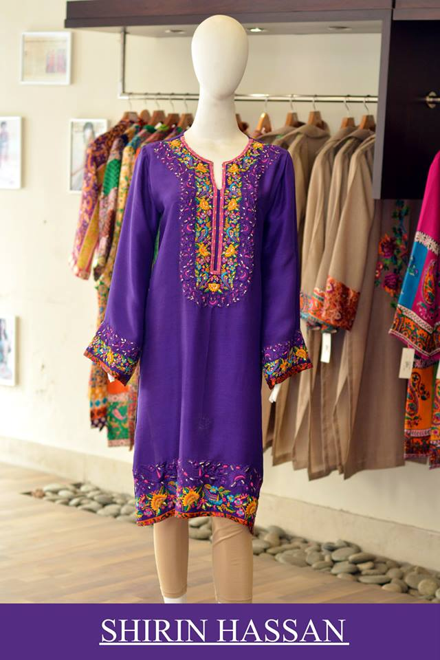 New Digital Kurtis & Suits By Shirin Hassan Winter Collection 2015 (27)