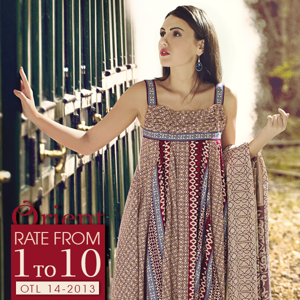 Orient Textile Latest Fall Winter Trendy Shawl Dress Series for Women 2014-2015 (1)