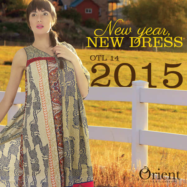 Orient Textile Latest Fall Winter Trendy Shawl Dress Series for Women 2014-2015 (10)
