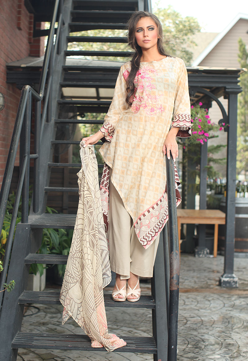 Orient Textile Latest Fall Winter Trendy Shawl Dress Series for Women 2014-2015 (13)